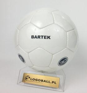 Biala piłka treningowa z nadrukiem termo